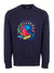Navy Embroidered Mountain Scene Sweater