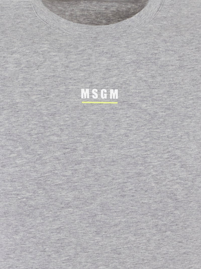 Grey Melange Chest Logo T-Shirt