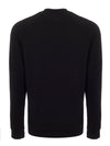 Black Long-Sleeved Chest Logo Top