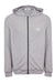 Grey Melange Zip-Through Hoodie