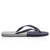 Haston Grey Two-Tone Flip Flops
