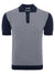 Circolo 1901 Jacquard Men's Polo in Navy