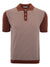Circolo 1901 Jacquard Men's Polo in Terracotta