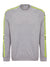 Grey Melange Stripe Arm Sweater