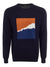 Navy Orange Square Jumper
