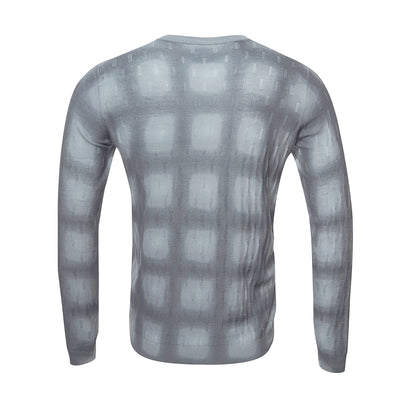 Grey Square Texture Jumper