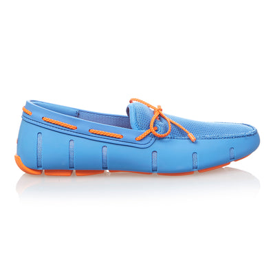 Blue Braided Top Loafers