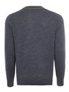 Grey Contrast Crew Neck Jumper