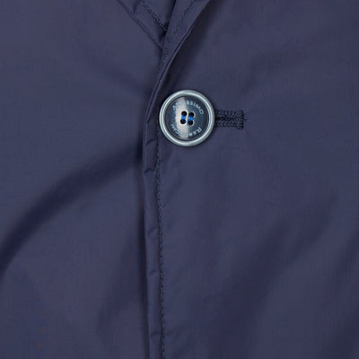 Navy Button-Through Mac