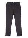 Dark Grey America Pocket Trousers in Houndstooth