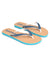 Haston Flip Flop in Blue Slate/Cloud/Bright Emerald
