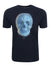 Men's Reg Fit Dark Navy 'Skull' Print T-Shirt