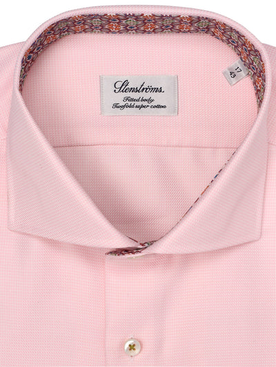 Baby Pink Gingham Fitted Shirt