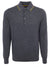 Grey Long-Sleeved Polo Shirt