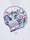 White 'Trippy Skull' Organic Cotton T-Shirt