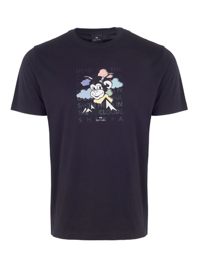Black 'Head In The Clouds' Print T-Shirt