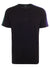Black Contrast Sleeve T-Shirt