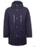 Navy Cotton-Blend Parka