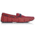 Braided Lace Deep Red Loafers