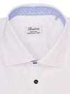 White Contrast Fitted Shirt
