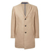 Camel Mid-Length Overcoat