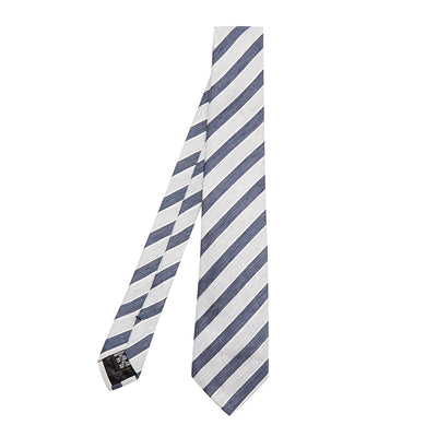 Striped Linen Silk Tie