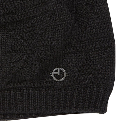 Black Cable Knitted Beanie