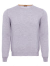 Grey Merino Wool Crew Neck Jumper