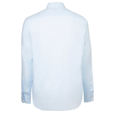 Blue Long-Sleeved Linen Shirt