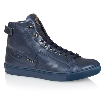 Versace Collection Scarpe Navy High-Top Trainers
