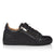 Black Leather Augusto Trainers
