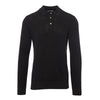 Anthracite Long-Sleeved Knitted Polo Shirt
