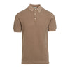 Biscuit Rib Knitted Polo Shirt