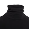 Black Cotton Roll Neck Top