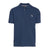 Blue Cotton Pique Polo Shirt