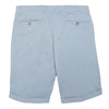 Blue Cotton Tailored Shorts