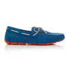 Seaport Blue and Alloy Braided Lace Loafers