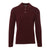 Burgundy Long-Sleeved Polo Shirt