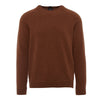 Brown Lambswool Raglan Sweater