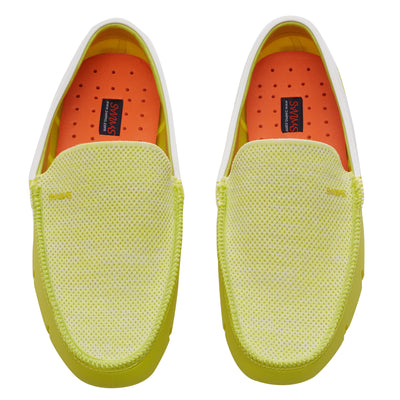 Limeade and White Classic Venetian Loafers