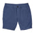 Blue Lightweight Pima Cotton Tailored Shorts