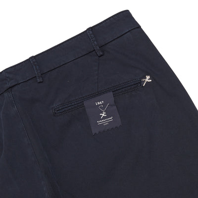 Luis Navy Blue Taiored Fit Stretch Chino