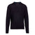 Dark Navy Merino Wool Blend Sweater