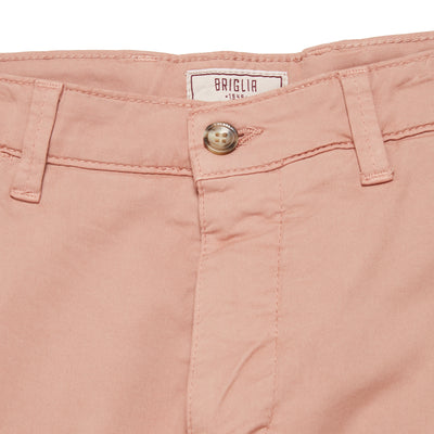 Pink Cotton Tailored Shorts