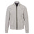 Light Grey Zip-Through Bomber Jacket