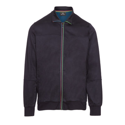 Navy Zip Front Bomber Jacket
