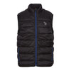 Black Padded Zip-Through Gilet