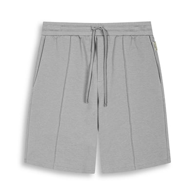 STONE GREY TAILORED FIT SHORTS