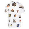 White Harold's Photos Printed Cotton T-Shirt