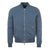 Blue Zip Through Bomber Jacket
